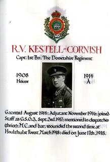 Kestell-Cornish, Robert Vaughan (1895-1918) | by sherborneschoolarchives