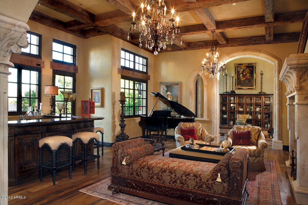 Paradise Valley Old World interior style decor room   Flickr