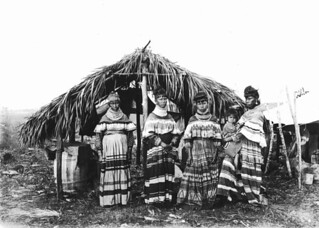 Women and child from the Cypress Tiger family near Kendall, Florida