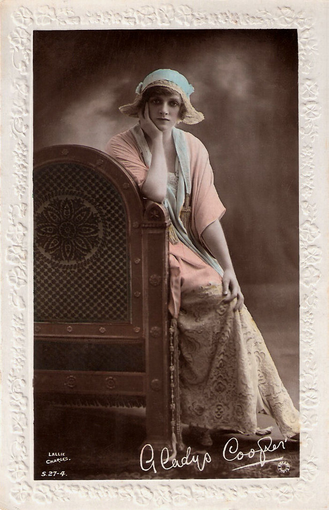 Gladys Cooper | British hand-painted postcard by Rotary Phot