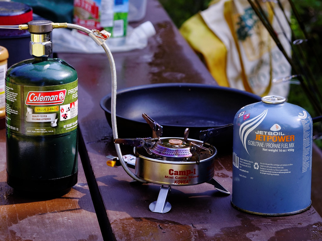 Kovea Butane Stove Adapted to Use Propane | CT Young | Flickr