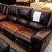 Brown leatherette set