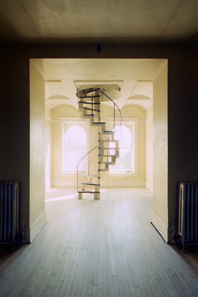 State Hospital Spiral Staircase To Attic Vince H Flickr