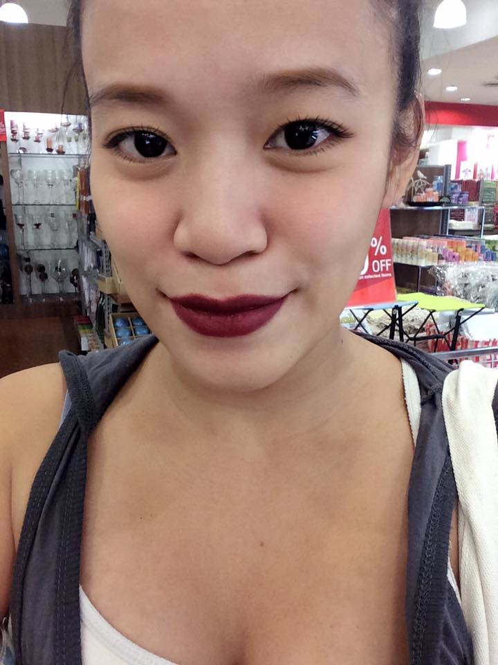 Burgundy Matte Stiletto Nails With Glossy Tips: Maybelline Burgundy Blush Matte Review