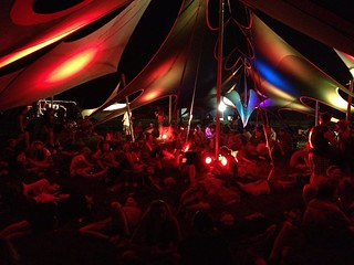 Bonnaroo 2013 - One of the hangout tents in Centeroo | by netgeek