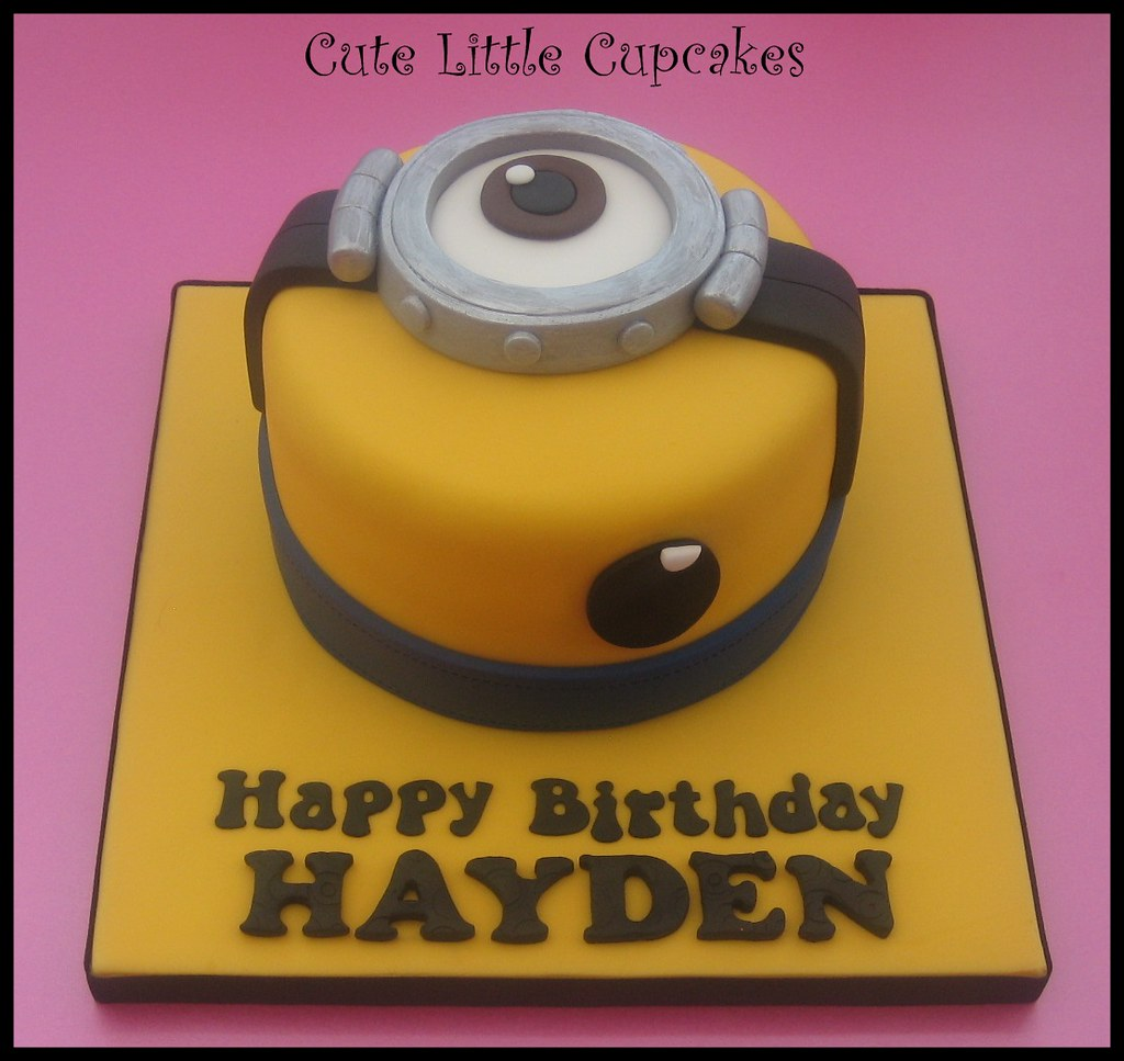 Terrific Minion Birthday Cake My 2Nd Minion Themed Cake This Week Flickr Funny Birthday Cards Online Eattedamsfinfo