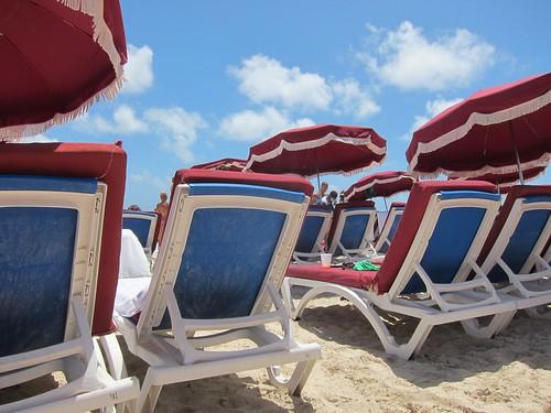 beach stmartin caribbean loungechairs orientbeach 2013 august2013