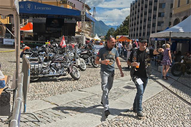 Harley Davidson Parade in Locarno. August 25, 2013.No.8423.