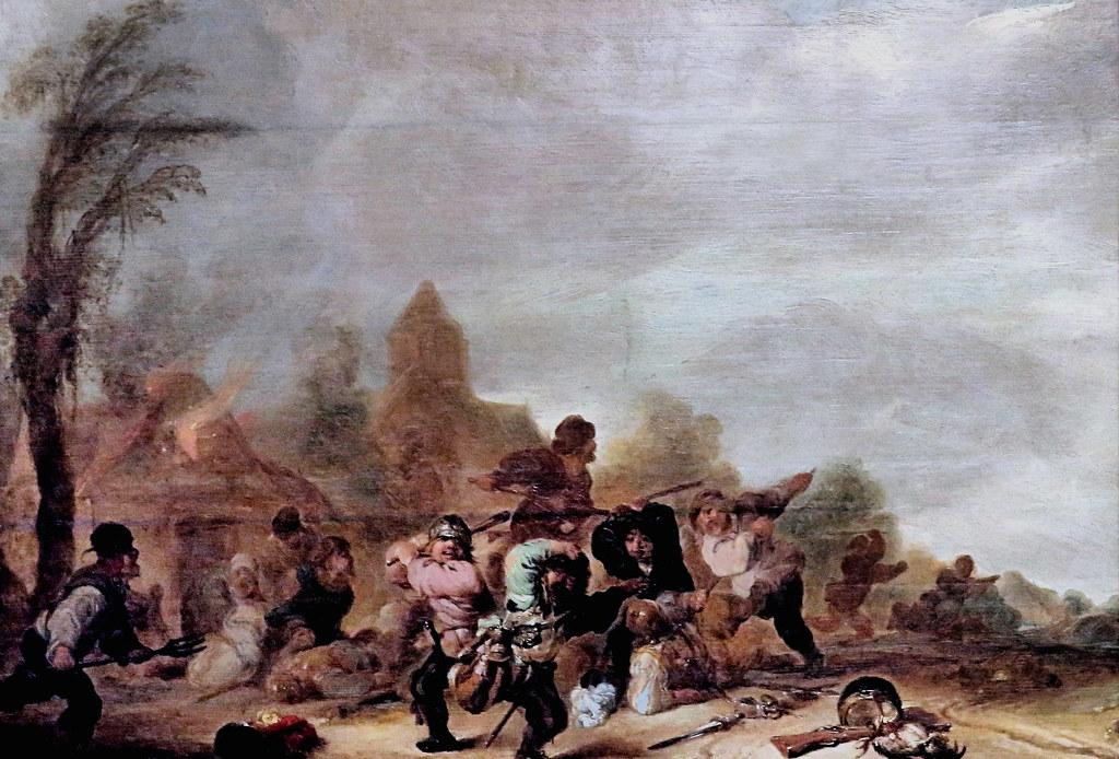 Brawl IMG_8691A X Hollande. 17- siècle. Rixe de soldats et de paysans. Brawl