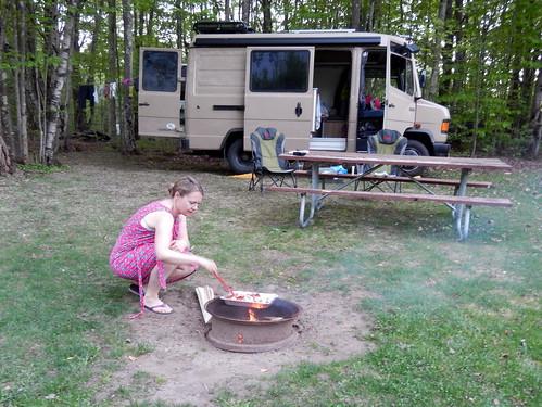 Greenfield Park - koken op vuurtje