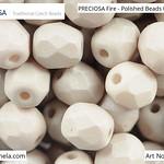 PRECIOSA Fire-Polished Beads - 151 19 001 - 02010/29564 - Olive