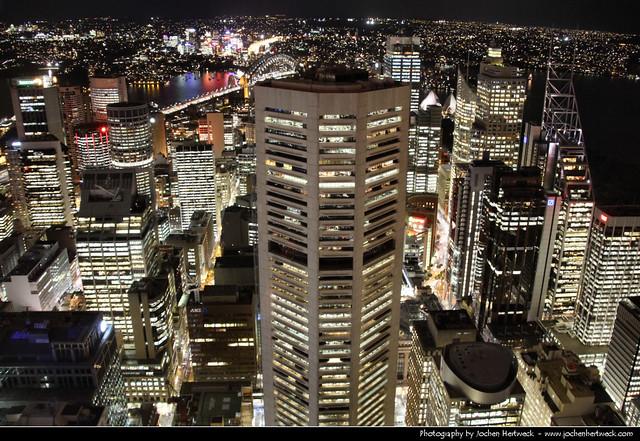 Looking north from Sydney Tower @ Night, Sydney, Australia