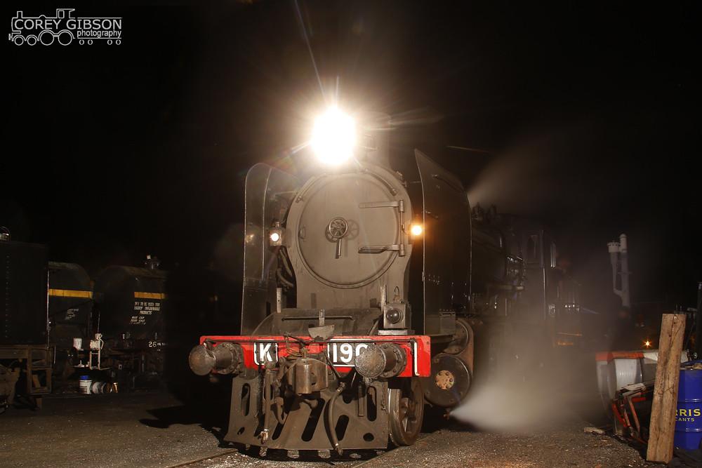 Victorian Goldfields Railway - K190 in the Maldon yard by Corey Gibson