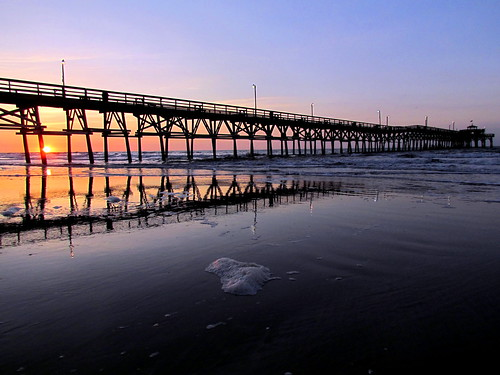 ocean beach water sunrise myrtlebeach pier springbreak