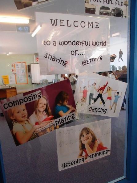Door to music room - Darlington Primary school