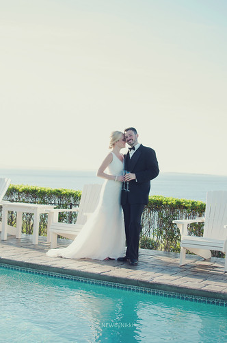 ocean wedding sunset love pool couple view