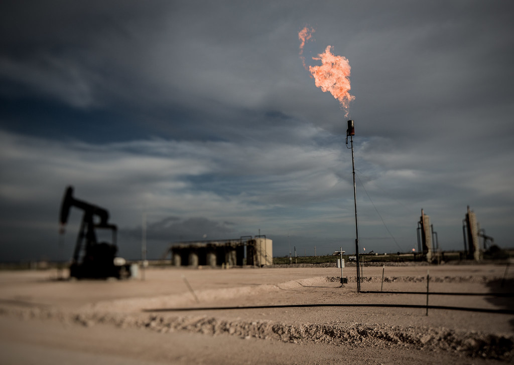 photo of natural gas flare