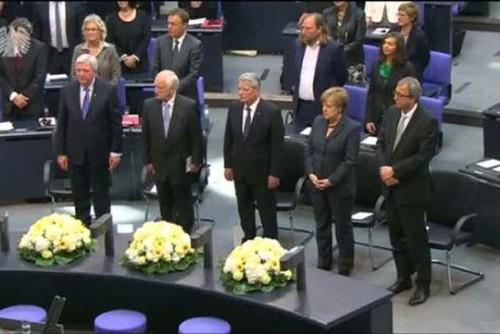Ceremonia en el Bundestag fin segunda guerra mundial