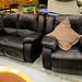 Black leatherette set