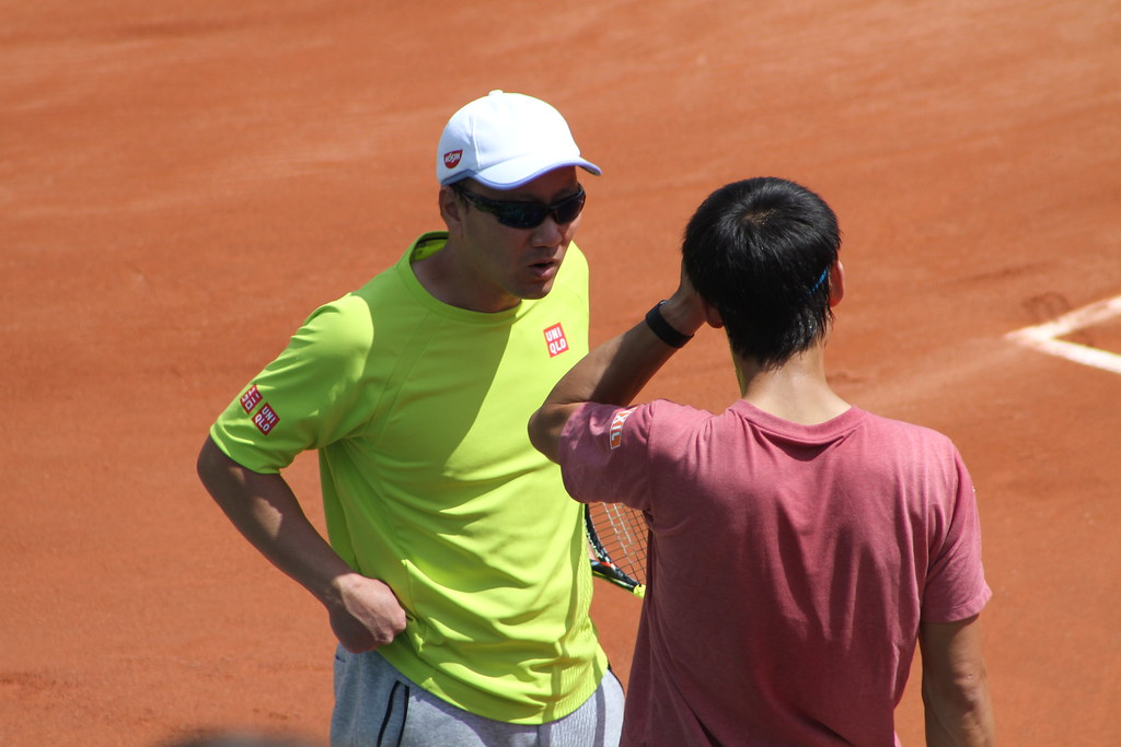 Kei Nishikori and Michael Chang
