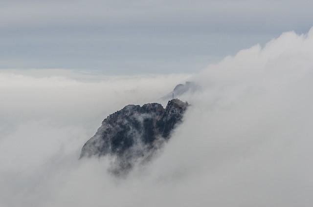 Erlakogel und Traunstein im Nebel