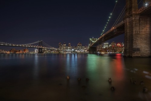 travel sonya7r2 bridge city longexposure manhattan newyork night nyc cityscape brooklyn