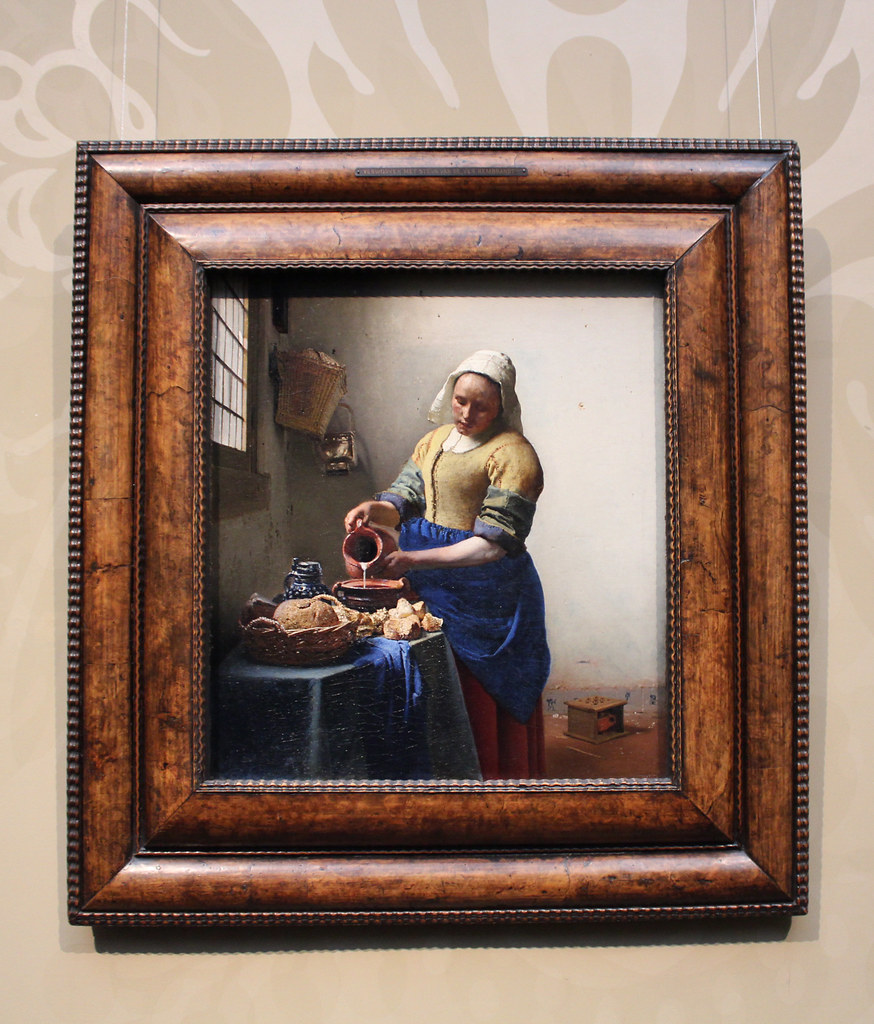 Johannes Vermeer The Kitchen Maid | So beautiful to see...th ...