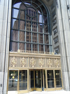 General Motors Building reflected in the Fisher Building entrance | by Preetha & James