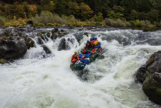 Rafting over Rainie Falls on the Wild & Scenic Rogue River in SW Oregon | by U.S. Department of the Interior