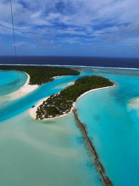 KAP on One foot Island, Aitutaki, Cook Islands