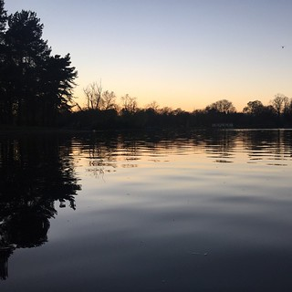 Victoria Park #sunset #dusk #reflection