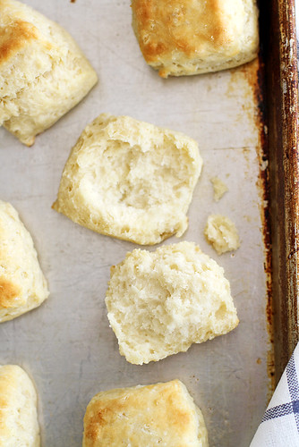 Flaky, Fluffy Southern Buttermilk Biscuits | girlversusdough.com @girlversusdough | by girlversusdough