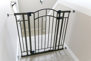 Summer Infant baby gate at top of stairs | by yourbestdigs