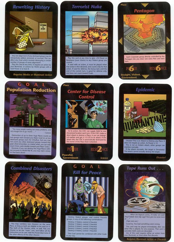 Illuminati Card Game created in 1995.
