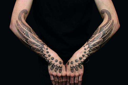 1e4e9e696bd71 Leo Zulueta - Tribal Hand Wings | NOT MY ARTWORK.. Tattoo By… | Flickr