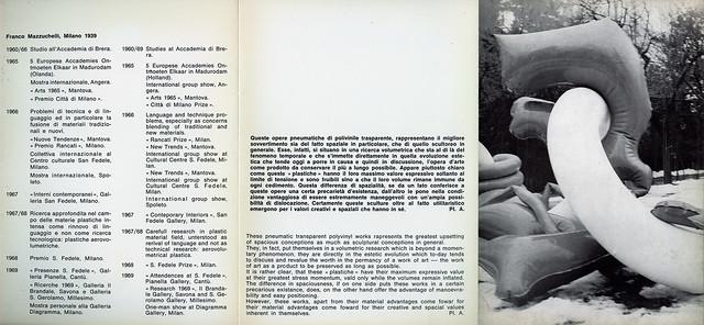 1969 Personale Galleria Diagramma Milano