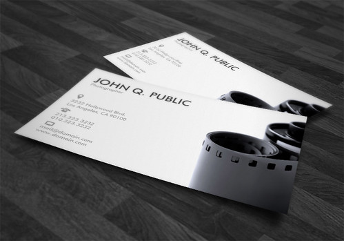 Black and White Photographer Business Cards | by J32Design