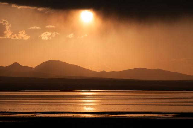Sunset at Son Kul lake - Kyrgyzstan