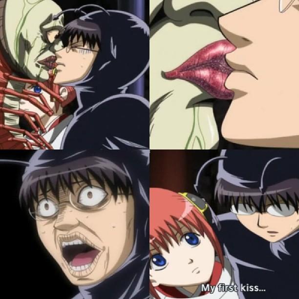 First Kiss Anime Gintama Shinpachi Kagura Pandemonium Flickr