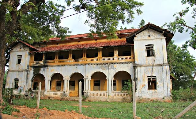 Ruined houses in the Palali KKS Military Camp; Sri Lanka