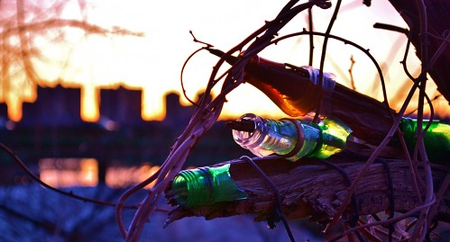 new york city nyc light sunset sun newyork building tree broken water glass river bottle vines nikon fort ryan harlem nj vine hudson 5100 grennan d5100 rwgrennan rgrennan