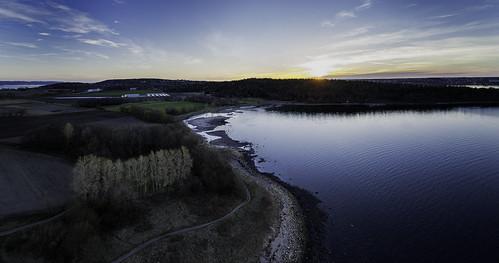 panorama norway sunrise landscape moss østfold alby jeløy multirotor multicopter