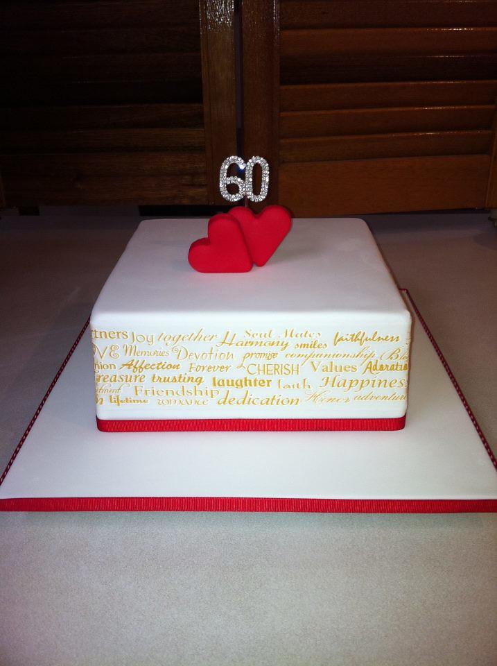 60th Wedding Anniversary Cake For My Grandparents 8 Squar Flickr