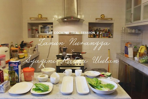 The Cooking Trial Session #1: Zanun Nurangga x Syagini Ratna Wulan | by Morrie & Oslo