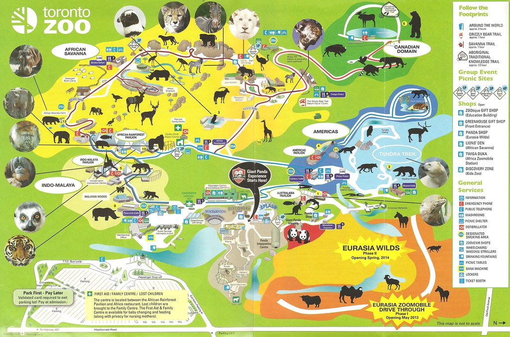 Toronto Zoo Map 21st Toronto Zoo map | lindasomerville@rogers.| Flickr
