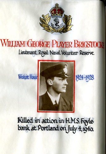 Brigstocke, William George Player (1910-1940) | by sherborneschoolarchives