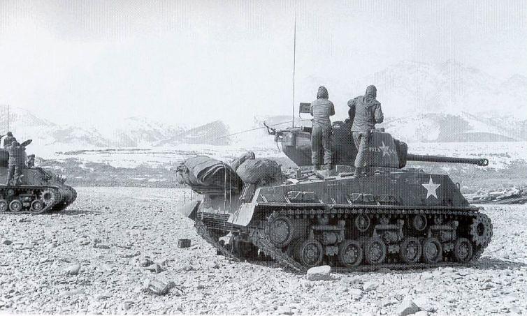 M4A3E8 Sherman   M4A3E8 Sherman tanks of Rice's Red Devils c