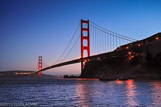 Golden Gate Bridge at dusk | by 3liz4