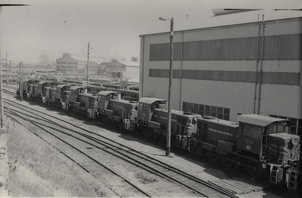70 Class locomotives at Port Kembla North on the last day of steam locomotive operations at Port Kembla by Tim Pruyn