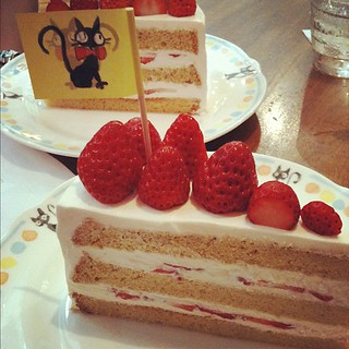 Strawberry Shortcake at the Straw Hat Café, #Ghibli Museum. Absolute perfection! | by Archangeli